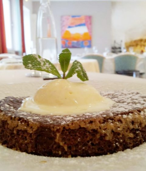 Dessert d'un restaurant à Montlouis Vouvray en Touraine
