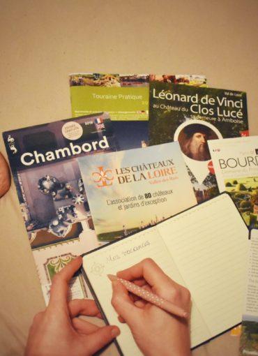 Brochures touristiques de la Touraine et du Val de Loire