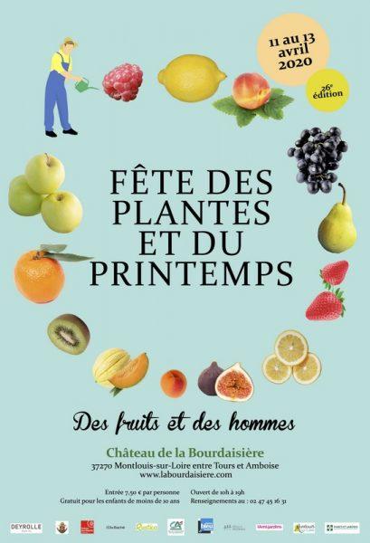 Affiche 2020 Fête des plantes et du Printemps Bourdaisière