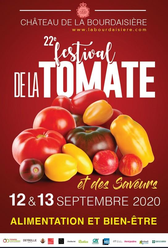 Affiche du Festival de la tomate 2020 au Château de la Bourdaisière à Montlouis