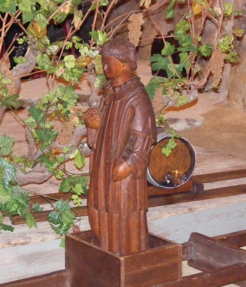 Saint Vincent le patron des vignerons à Vouvray en Touraine