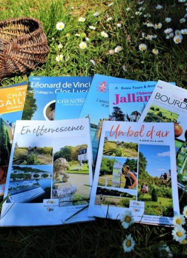 Brochures châteaux et sites touristiques Indre et Loire
